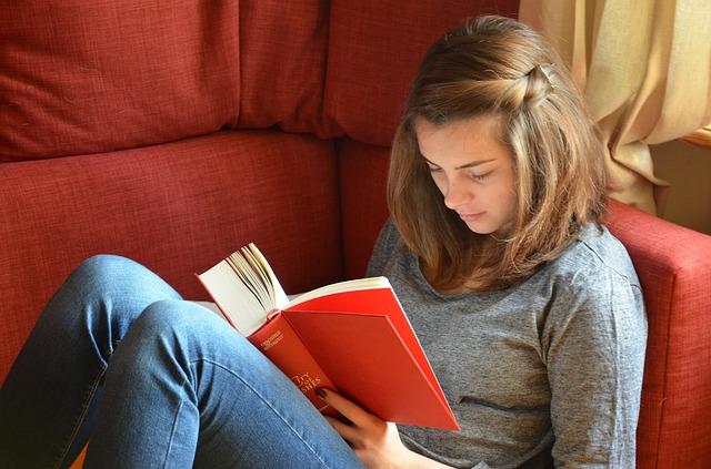 čtení románu