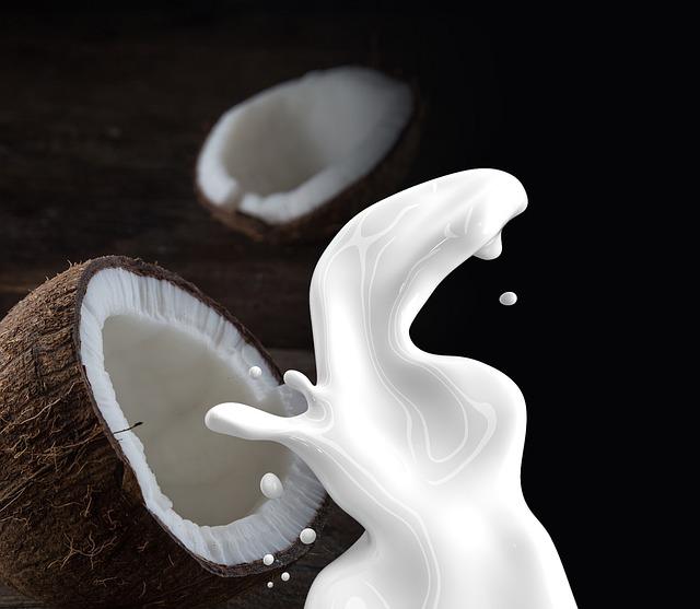 Kokosové mléko v kuchyni